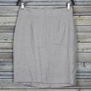 New Banana Republic Linen Tan Pencil Skirt Size 8